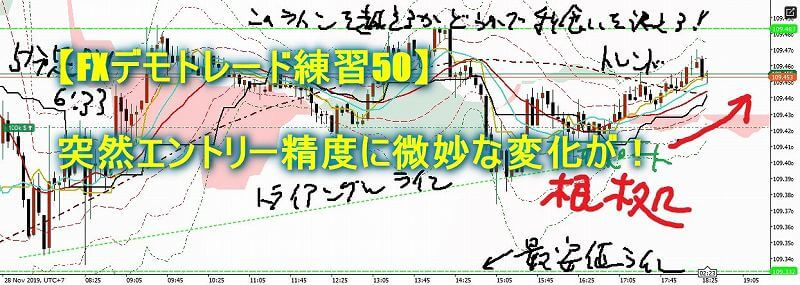 【FXデモトレード練習50】突然エントリー精度に微妙な変化が!